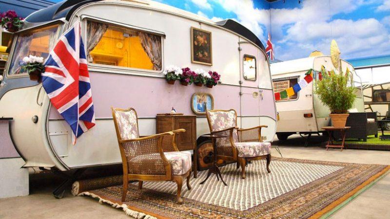 Kult Overnattingssted med Campingvogn Tema